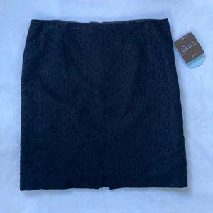 Jessica petite lace black skirt